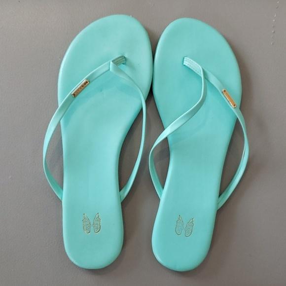 Victoria's Secret Shoes - RARE seafoam green Victoria's secret angel sandal